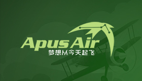 Aviation training logo, Apus logo design
