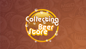 Beer & beer collecting logo design, Beer caps logo