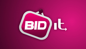 Bid logo, Live auction logo design