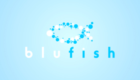Blue fish logo, Water logo