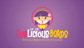 Cartoon girl logo, Bakes logo
