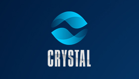 Crystal logo design, Communication logo