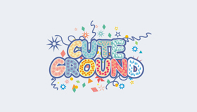 Cute logo, Colorful texts logo design, Playground logo