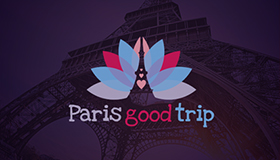 Paris lifestyle logo design, Eiffel tower logo