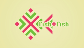 Fish logo design, handworks logo