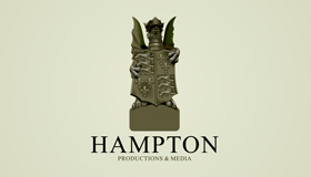 hampton logo, stone carving logo design
