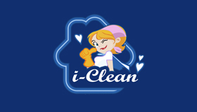 house maid logo, maid logo, room clean service logo