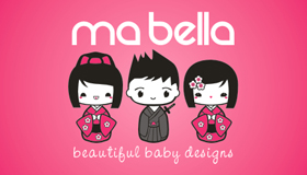japanese doll logo design, doll logo, baby wear logo