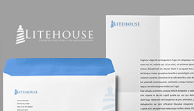 IT Application solutions logo design, Lighthouse logo