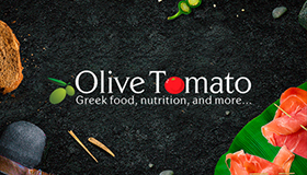 Cooking & nutrition logo design, Olive logo and Tomato logo