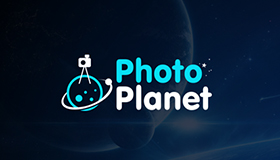 photography logo, PS logo design, Planet logo