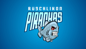 piranhas logo design, hockey team logo