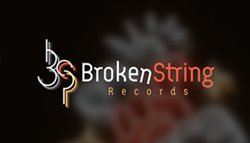 Music production company logo design, Records logo