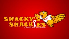 snacky logo, squirrel logo