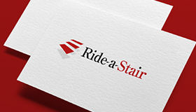 Customised stairlifts logo, Stair logo design