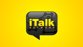 talk logo, talk bubble logo design