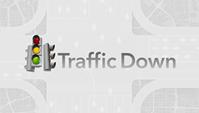 Traffic light monitoring website logo design