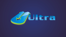 ultra logo, 3D text logo design